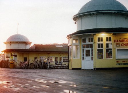 Shops in the former bandstand shelters
