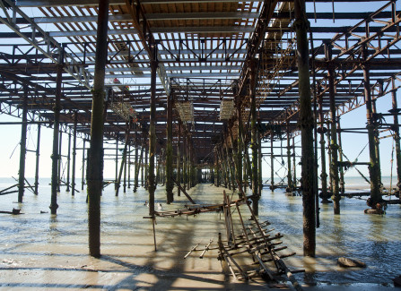 Early Structural Work on the Pier, 2014
