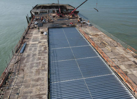 Aerial View of New Steel Structure to Support the Pier Visitors Centre
