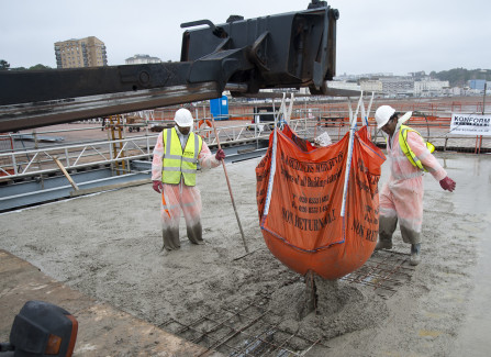 Pouring Concrete Foundations for the Pier Visitors Centre
