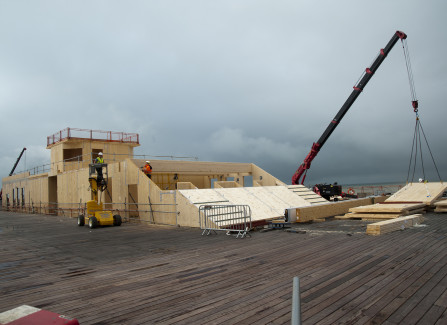 Construction of the Pier Visitors Centre