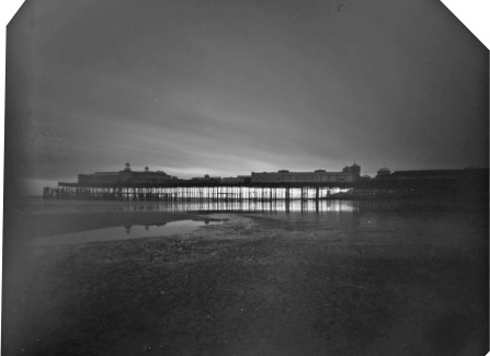 Pinhole photo of Hastings Pier at dusk, 2010, by Ian Grant