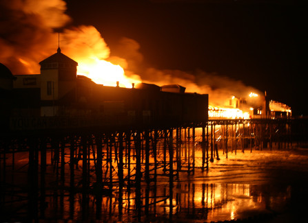 The Pier on Fire