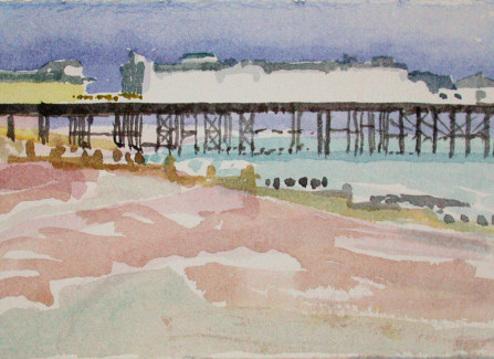 4pm Pier by Marilyn Hallam, 1993