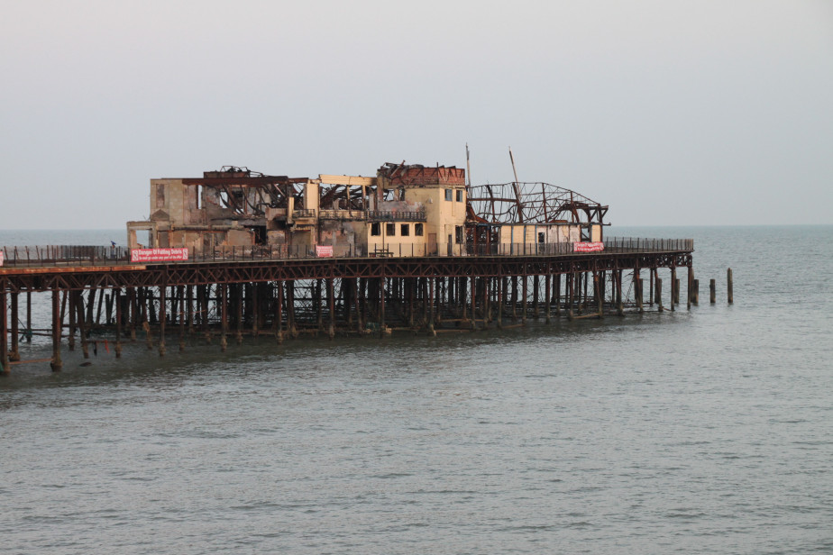 Damage seen from beach