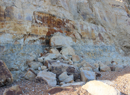 Cliff erosion in Hastings