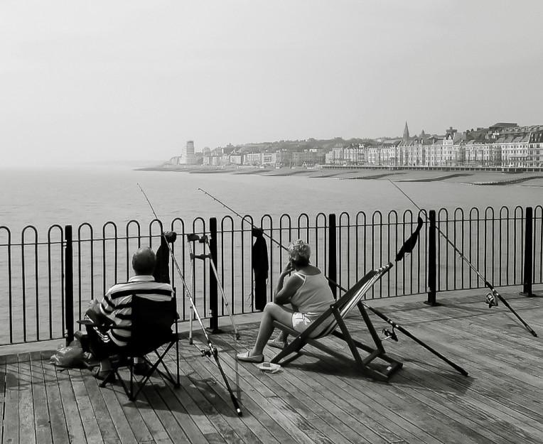 Fishing on Hastings Pier