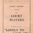 Court Players programme ticket stub