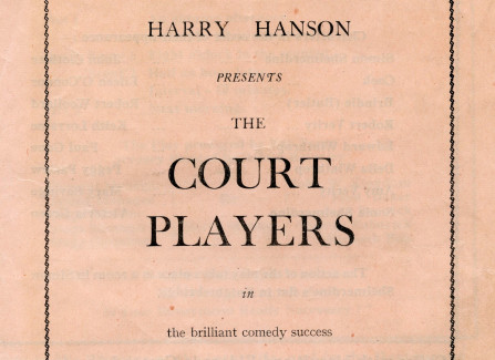 Court Players programme ticket stub
