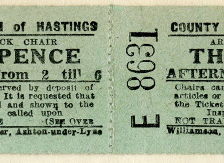1940s Deck chair ticket