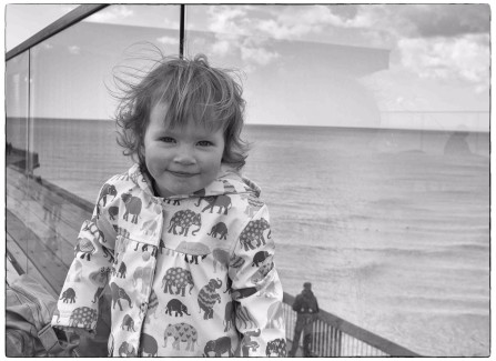 Harriet Rapley aged 2 at the Pier on opening day