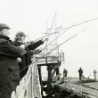Anglers in Hastings Pier