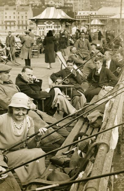 Anglers on St Leonards Pier