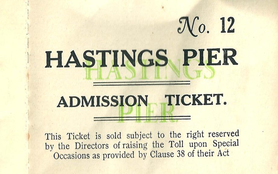Pier admission ticket