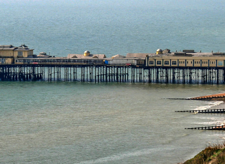 Photos of Hastings Pier pre and post 2010 fire