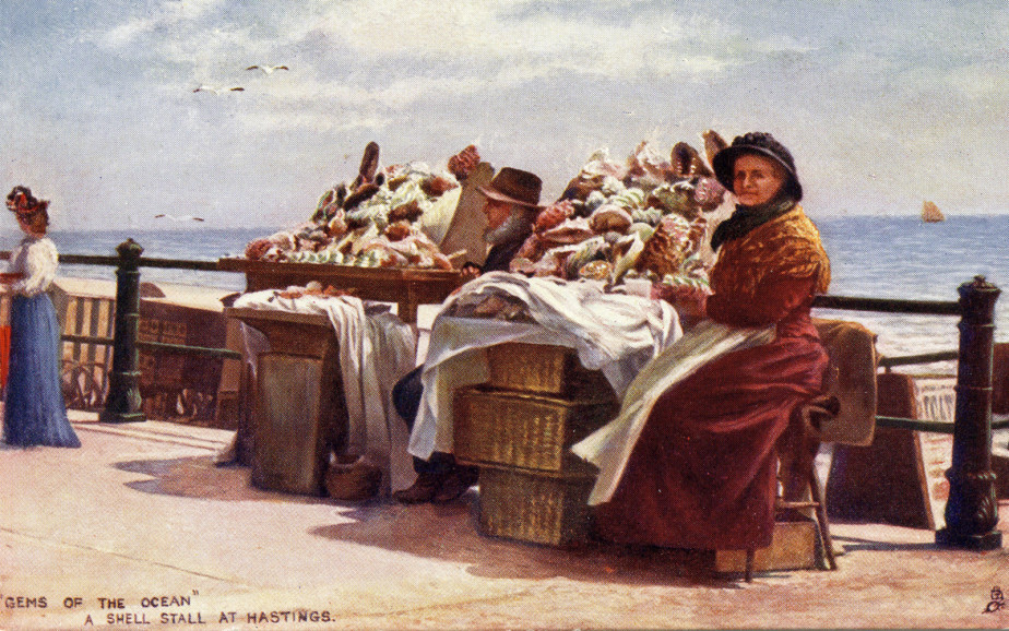 A Victorian shell stall in Hastings