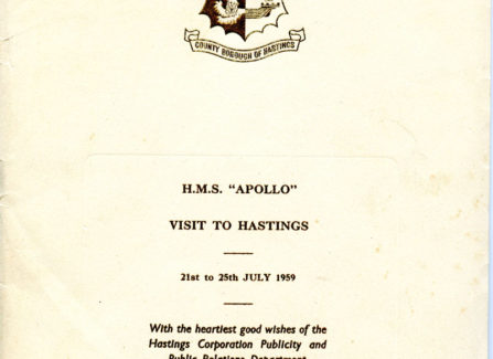 HMS Apollo Visit to Hastings Brochure