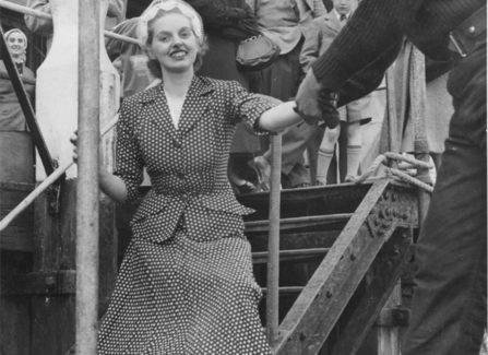 Stella Beale, winner of the Hastings Easter Fashion Parade 1954