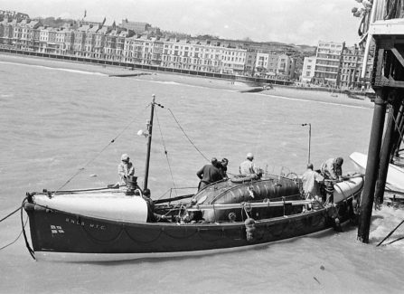 The MTC Lifeboat Rescues a Sailing Club Rescue Boat from under the Pier