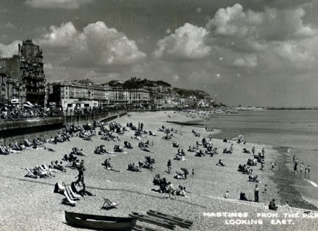 Hastings from the Pier, Looking East