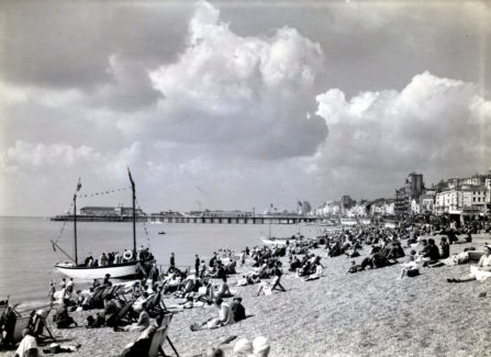 Gifford Boyd Photograph of Hastings Beach and Pier, c. 1950
