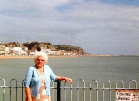 Dorothy McCartney on the Pier, 1978.
