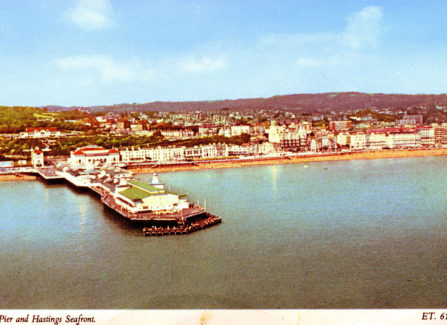 Aerial view of Hastings Seafront and Pier