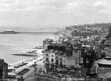 Hastings and St Leonards Piers from the West Hill