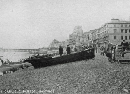 The Pier from the beach at Carlisle Parade, 1910s