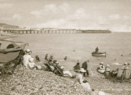The Pier and the beach from St Leonards
