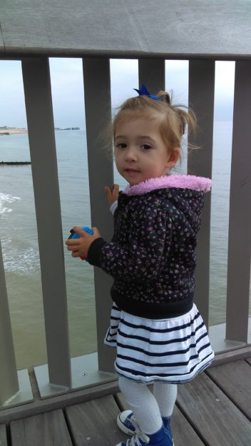Toddler on Pier