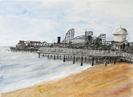 Pier after the Fire by Val Grist, 2010