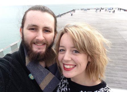 Katie Sherry and Liam visit the Pier.