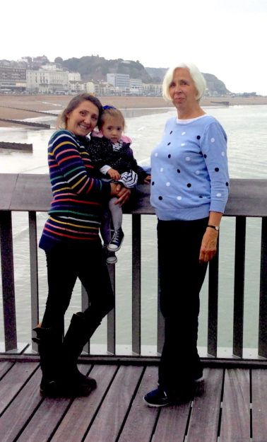 Amy, Alma and Joy on the Pier