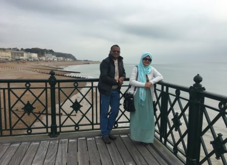 Family visit to Hastings Pier