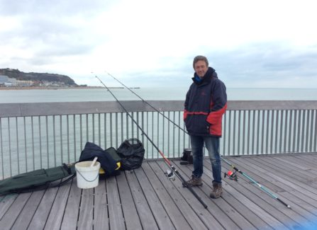 Brian Pask Fishing on the Pier