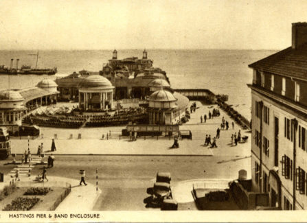 Hastings Pier, Bandstand and Steam Ship, 1930s