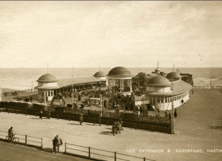 Pier Extension and Bandstand, 1920