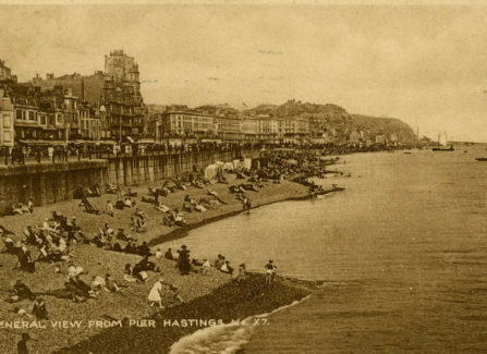General view of Hastings from the Pier, 1925