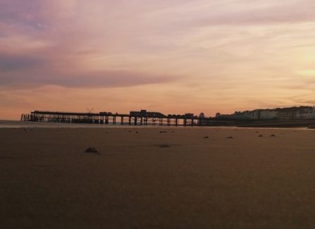Hastings Pier by sunset