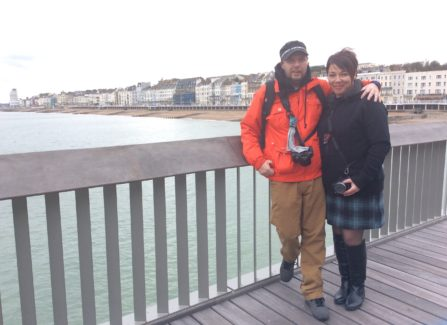 Louise and Jude on the pier