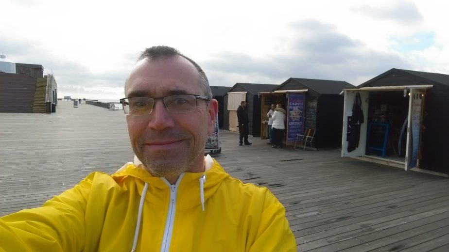 Pavel Tetur Selfie on Hastings Pier