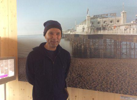 Peter Greaves on Hastings Pier