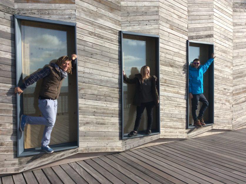 Remi, Caroline and Mark