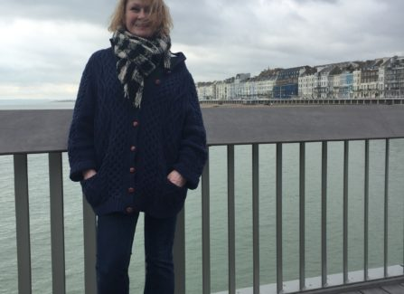 Sue Dawson - loving the Pier!