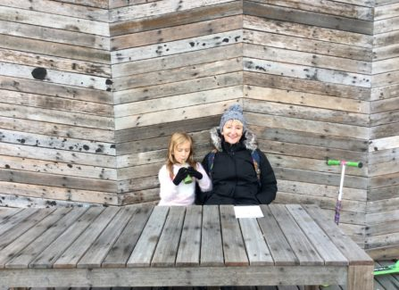 Mother and Daughter on Hastings Pier