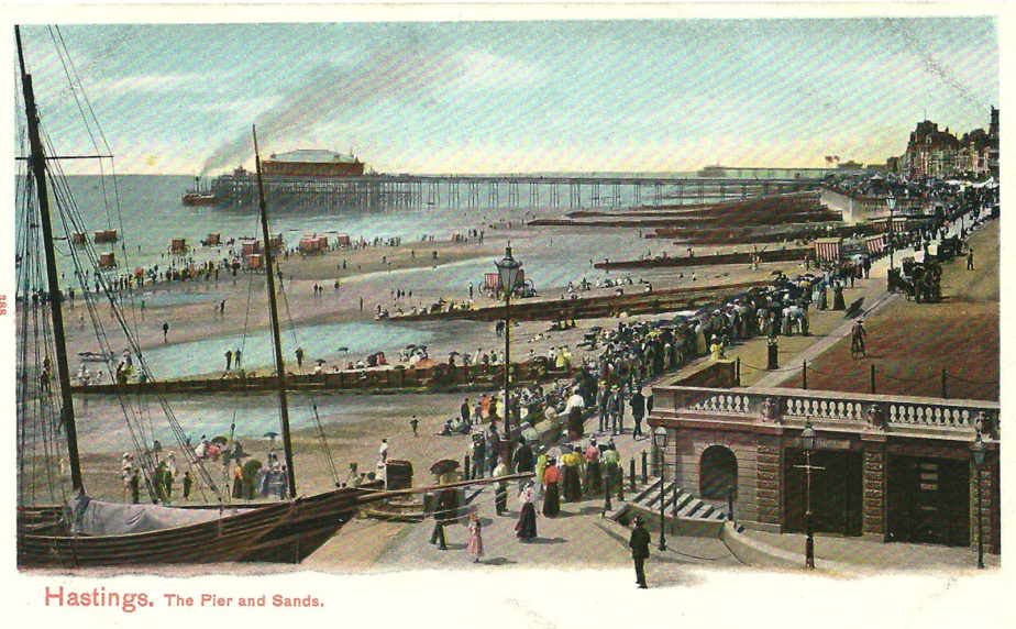 A Busy Day at the Victorian Seaside.