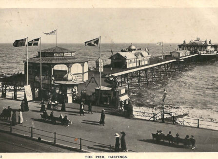 Hastings Pier with Joy Wheel and Bowling Alley