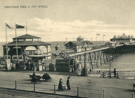 Hastings Pier with Joy Wheel, Bowling Alley, and Shooting Gallery