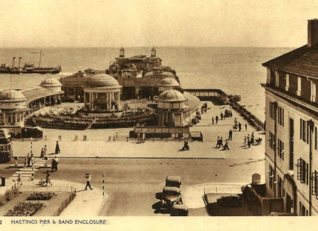 Hastings Pier and Band Enclosure, 1950s